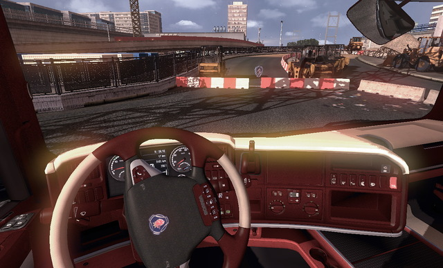 Scania Truck Driving Simulator red interior mods