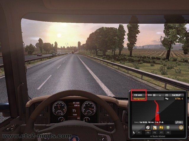 Euro Truck Simulator 2 Mods: No speed limit mod (120 km/h) download