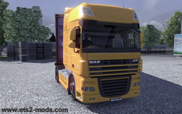 Euro Truck Simulator 2 real DAF logo mod download