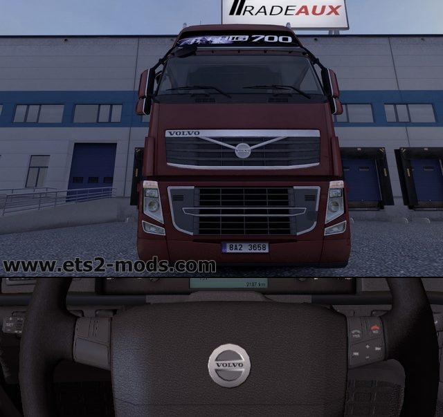 Euro Truck Simulator 2 real Volvo logo mod download