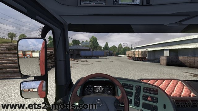 Euro Truck Simulator 2 fixed seating position mod by Ascot download
