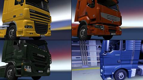 ets2 truck chromed parts