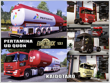 ETS2 Mods: UD Quon & Indonesian Pertamina Trailer  trailers