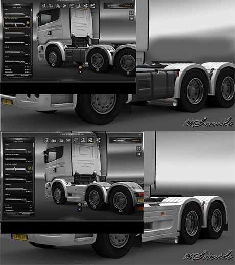 scania sideskirt and qos6g