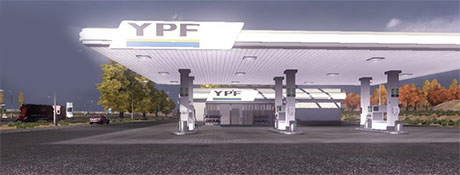 ETS2 Mods: Gas Station YPF  mods