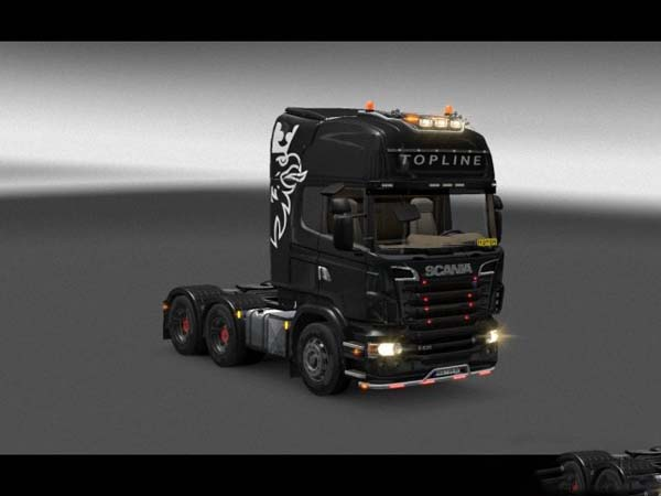 Scania v8 grill colorable