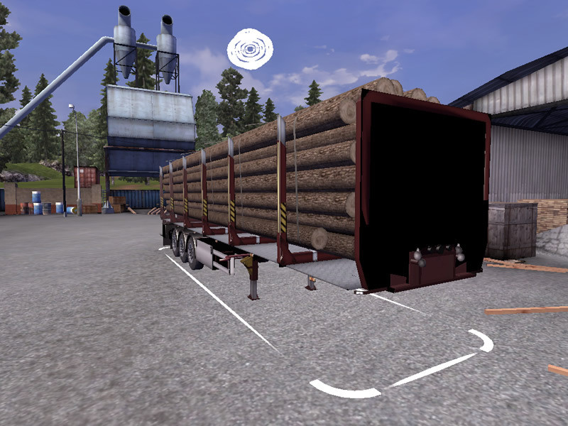 ets 2 mods fliegl log trailer