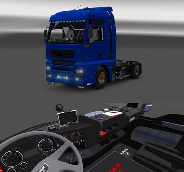 ets2 man tga with interior