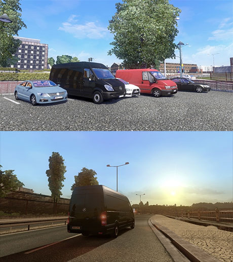 Euro Truck Simulator 2 Mods: Mercedes Benz Sprinter Van Long  car bus