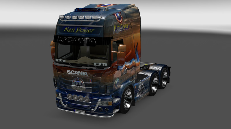 ets 2 scania showtruck men power 2