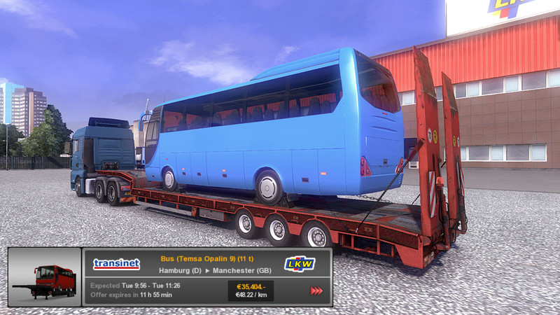 ets 2 trailer overweight bus opalin