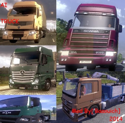 Ai Traffic Cars and Trucks Pack 1