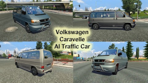 Volkswagen Caravelle in traffic